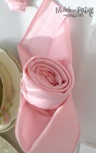 Birthday Tea Rose Napkins
