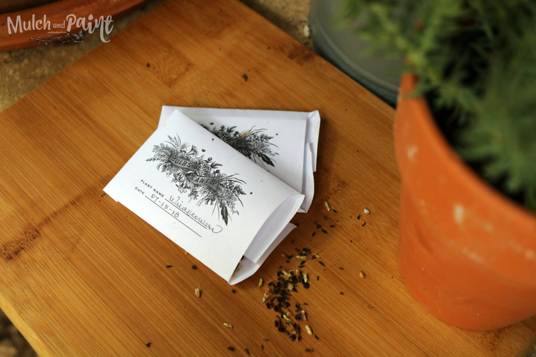 Seed Packets From EllaClaire Blog, Printable Seed Packets, Potting Bench Makeover, Potting Bench Decor