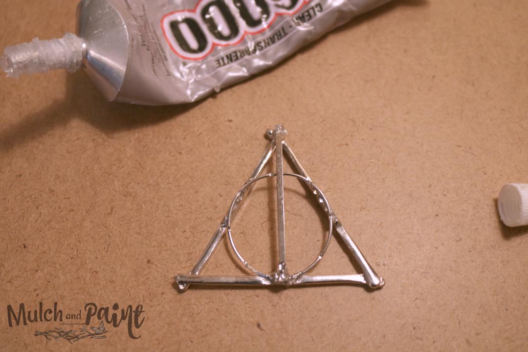 Deathly Hallows Christmas Ornament Glue with E6000 Harry Potter, Hobby Lobby