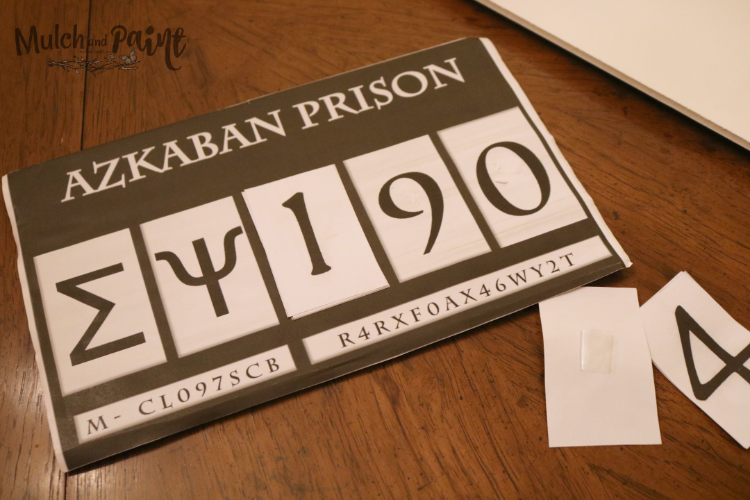 Harry Potter Azkaban Prison prisoner sign for DIY Christmas ornament