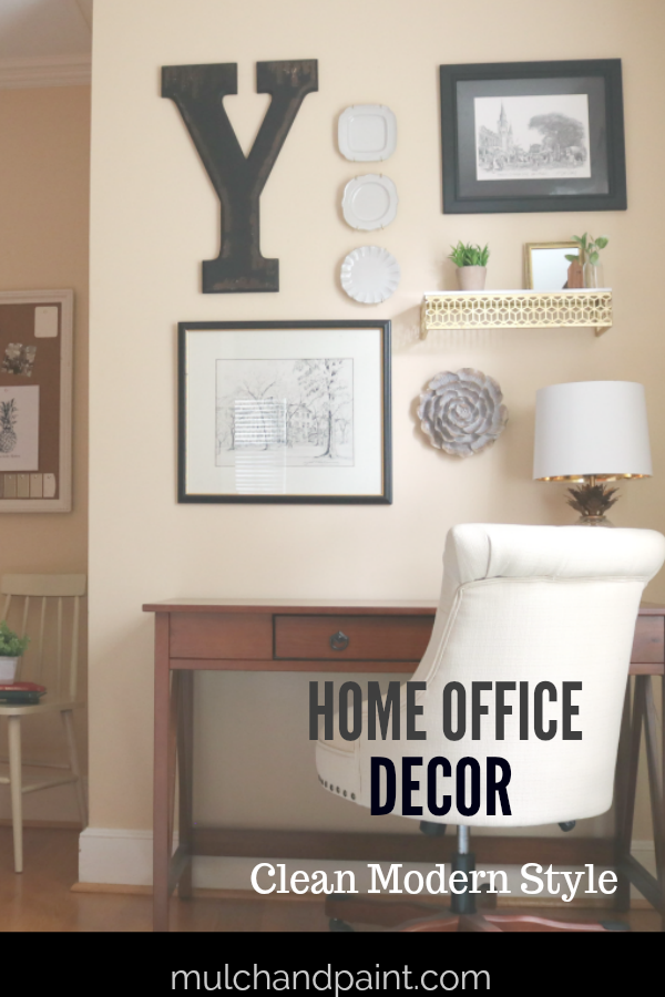 Home Office Decor Clean Modern Style