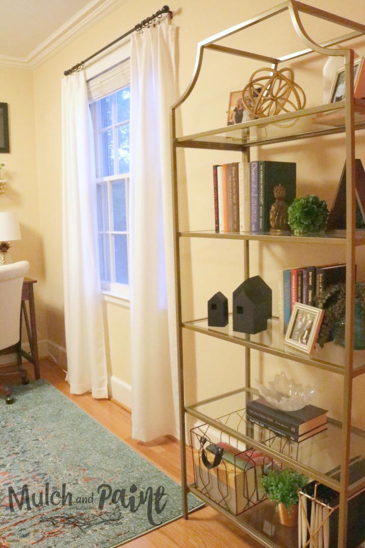 Loft decor book case, home office decor
