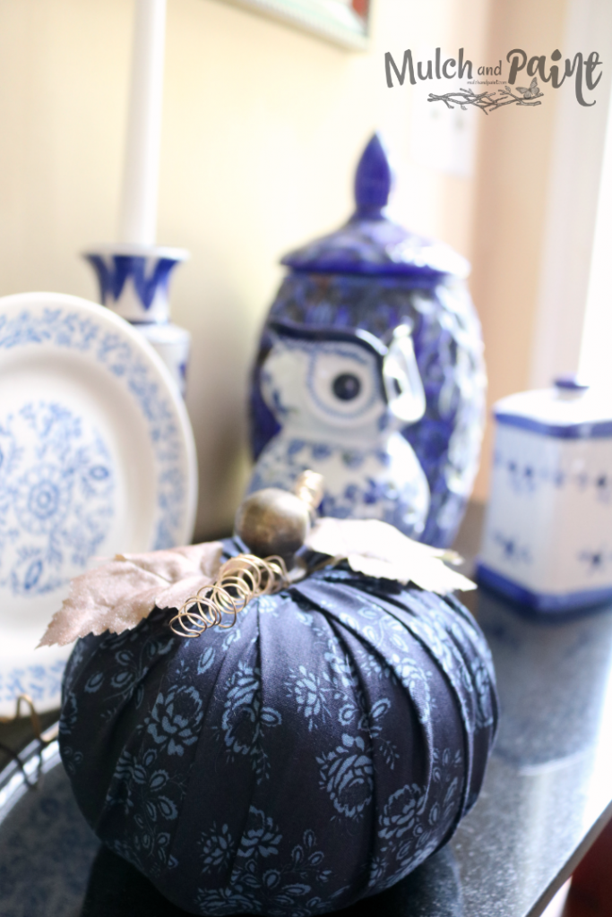 DIY Fabric Pumpkin from Dollar Tree Pumpkin