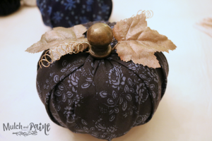 DIY fabric pumpkin from dollar store