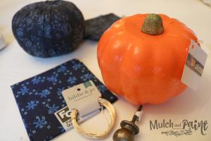 Dollar Tree pumpkin DIY for fabric pumpkin supplies