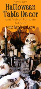 Spooky Halloween Table Decor from mulchandpaint.com