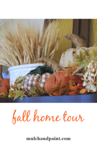 Fall Home Tour 2018 Mulch and Paint