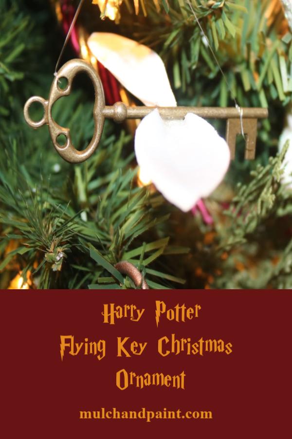 Harry Potter Flying Key Christmas Ornament Tutorial for Pinterest