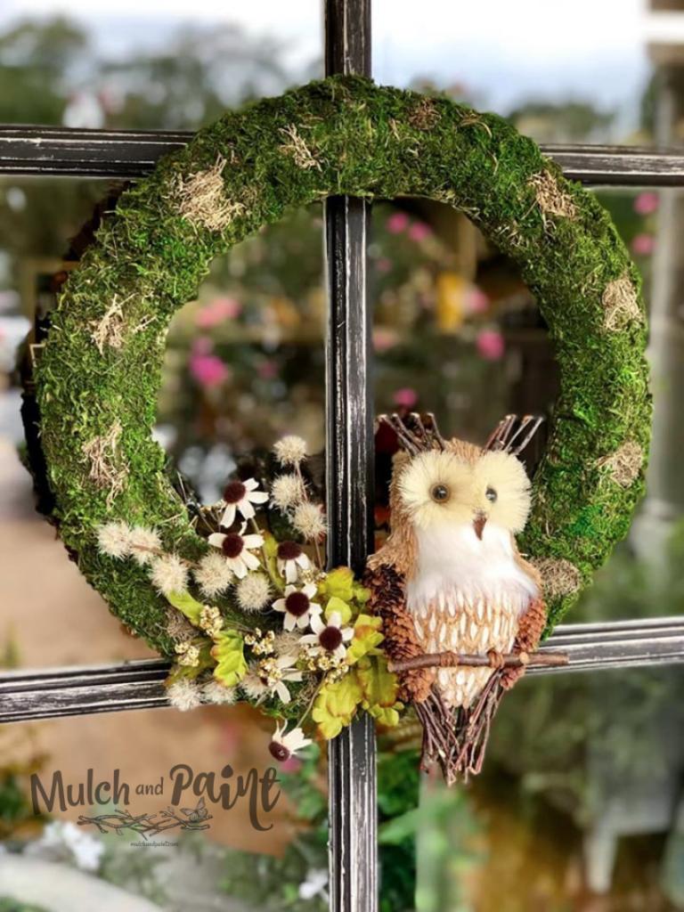 Owl Wreath for Fall