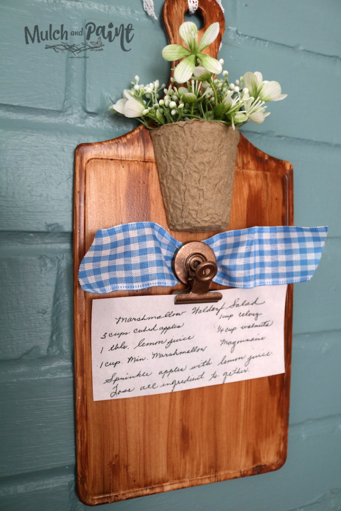 Faux Wood Cutting Board made from Dollar Tree Items