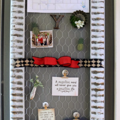 DIY Message Board OR Maybe the World's Largest Refrigerator Magnet…you decide