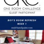 Boy's Room Refresh-One Room Challenge Week 1